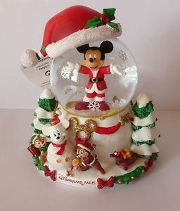 schneekugel mickey weihnachten disney christmas paris. Black Bedroom Furniture Sets. Home Design Ideas