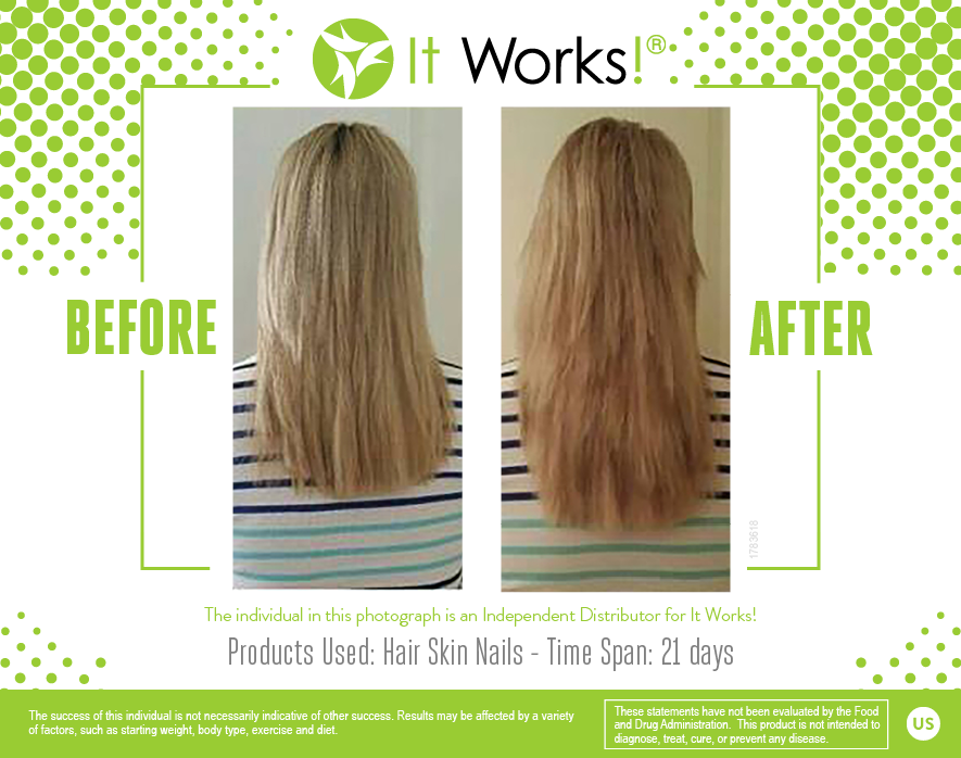 Just two weeks on It Works! Hair Skin Nails! | It Works! Results ...