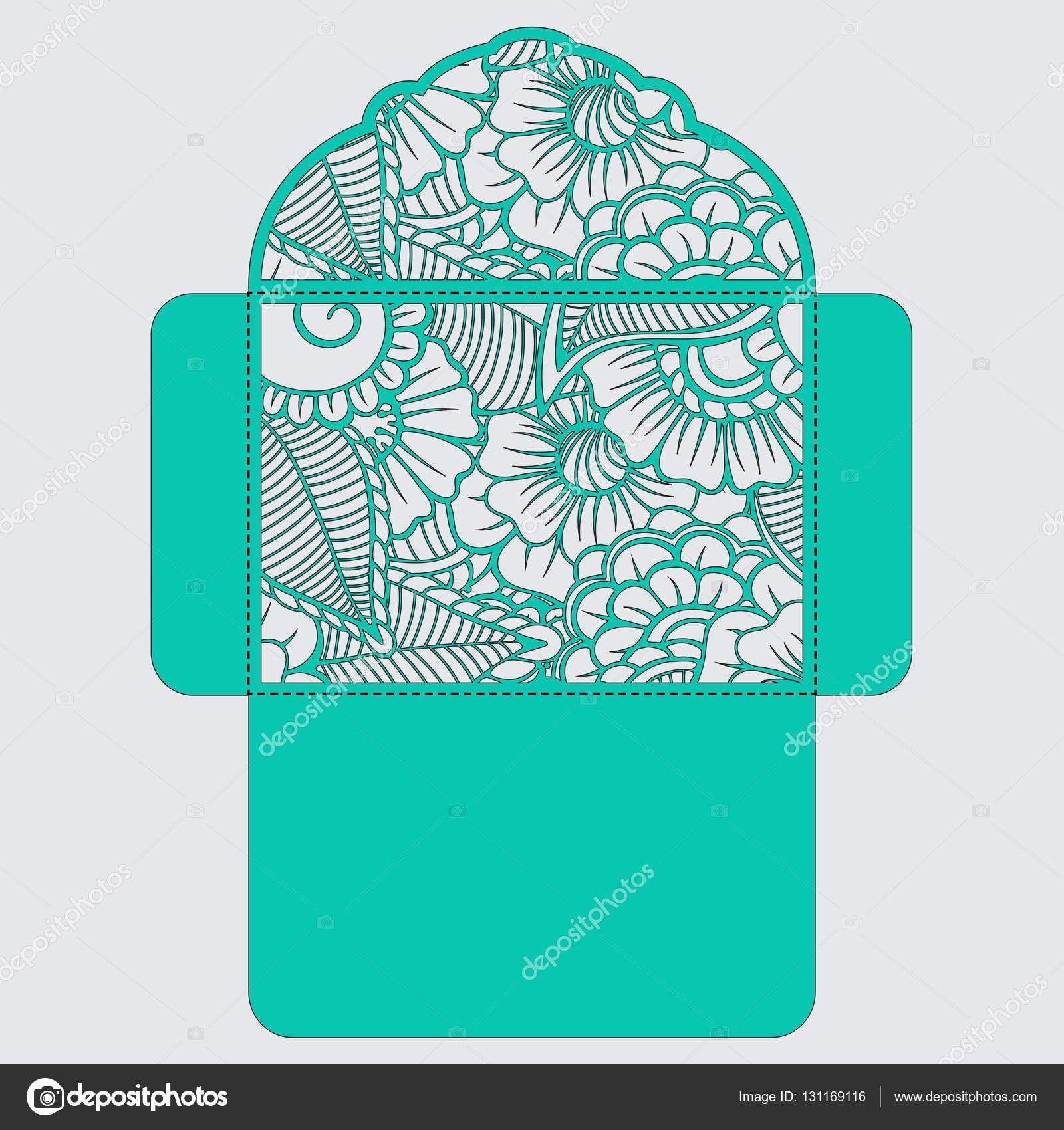 Telecharger L Image Vectorielle Libre De Droits Faire Part De Mariage Ou Carte De Voeux Avec Ornement Abst Faire Part Mariage Fichiers Silhouette Decoupe Laser