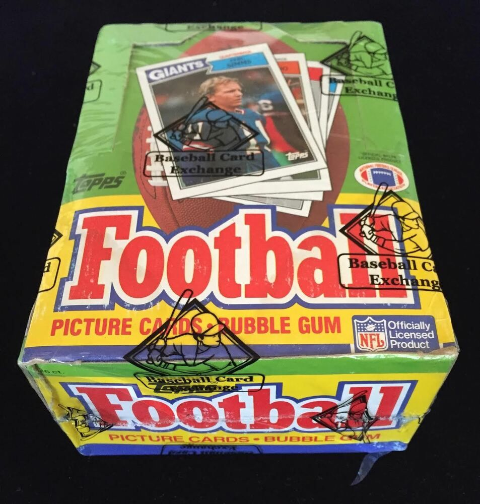 1987 topps football wax box bbce jim kelly randall