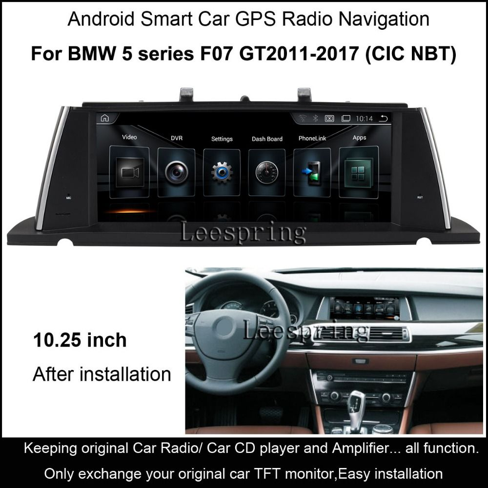 10 25 Inch Android Smart Car Radio Gps Navigation For Bmw 5 Series F07 Gt 2017 Intelligent Multimedia Player