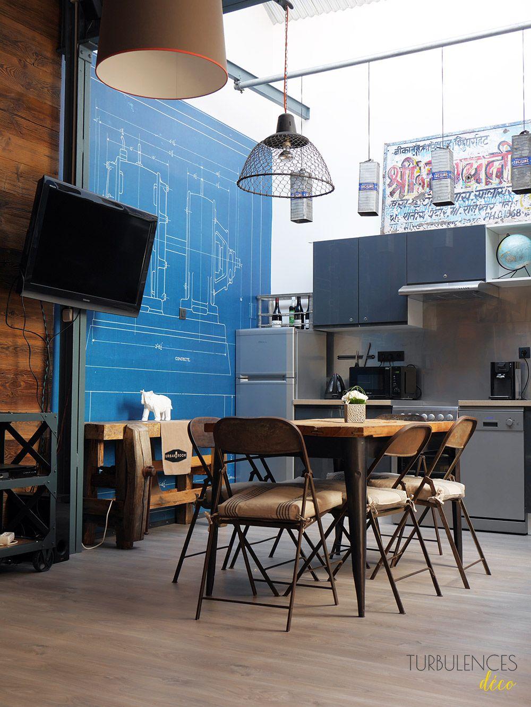 Visite privée : Urban room, un décor très industriel | Industrial ...