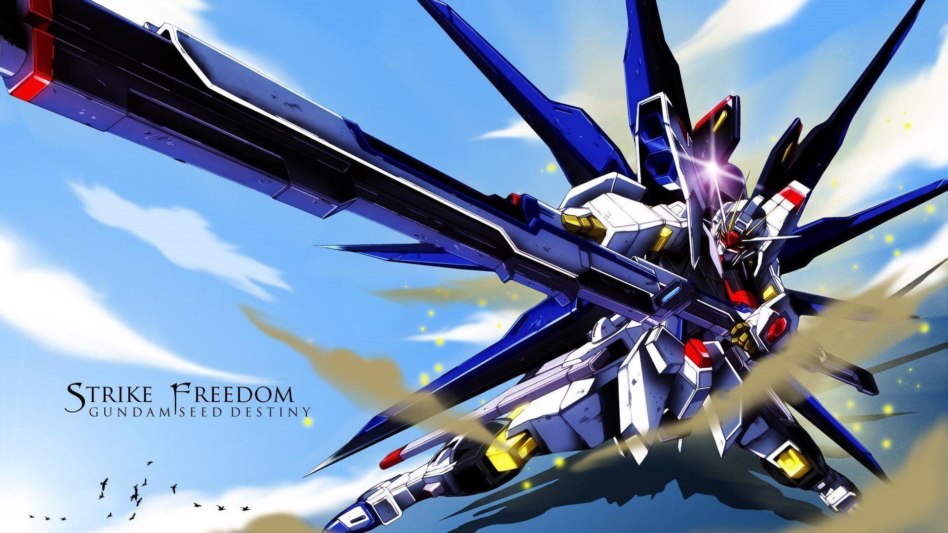 Gundam Seed Destiny Striker Freedom Gundam Zgmf X20a Strike Freedom Mobile Suit Gundam Seed Mobile Su Gundam Wallpapers Gundam Seed Destiny Wallpaper Hd