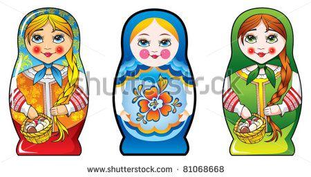 Traditional Russian matryoshka (matrioshka) dolls ...