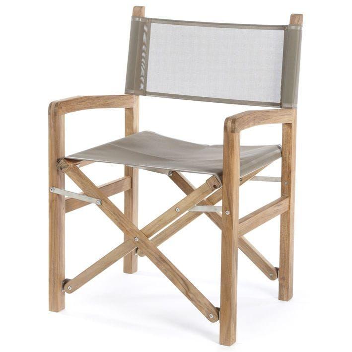 Boat Director S Chair Folding Teak Square Batyline Valdenassi
