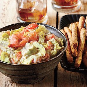 Warm Artichoke-Shrimp Dip #shrimpdip