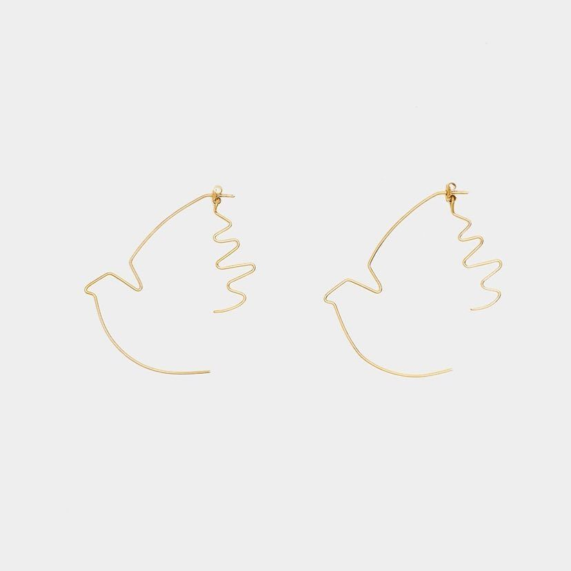 Curated By On Instagram Dove Earrings First Piece Of Freedom A Project In Collaboration With Die Motte A Freedom That Never Restr With Images Earrings Doves Bling