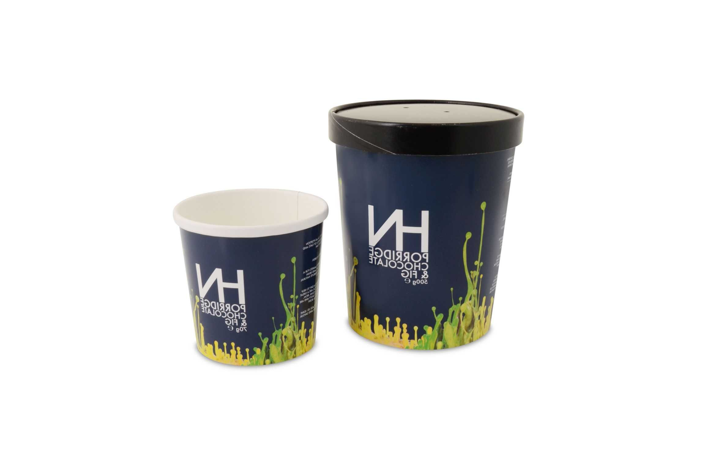 custom printed compostable containers for harvey nichols