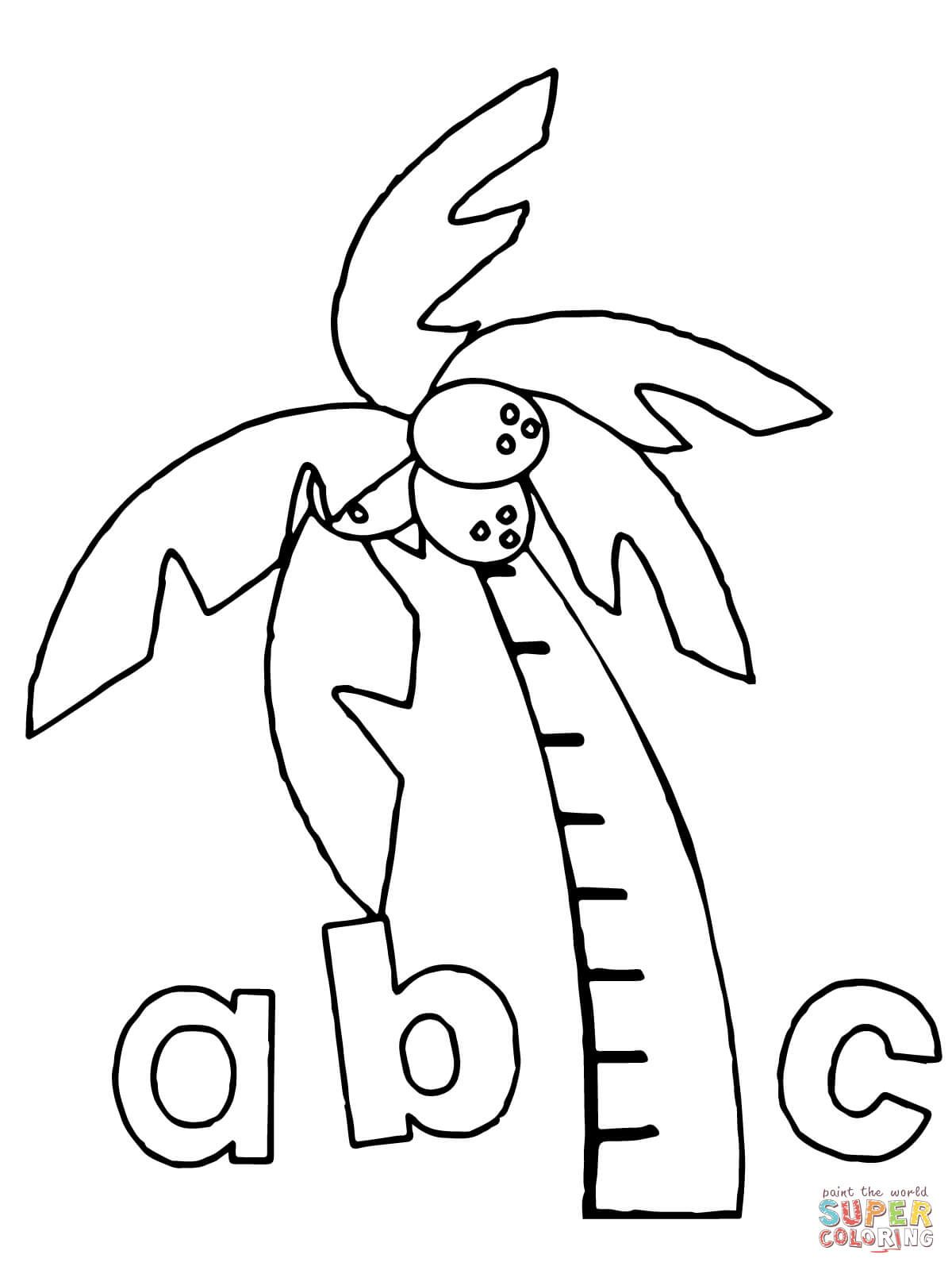 Chicka Chicka Boom Boom Abc coloring page from Chicka