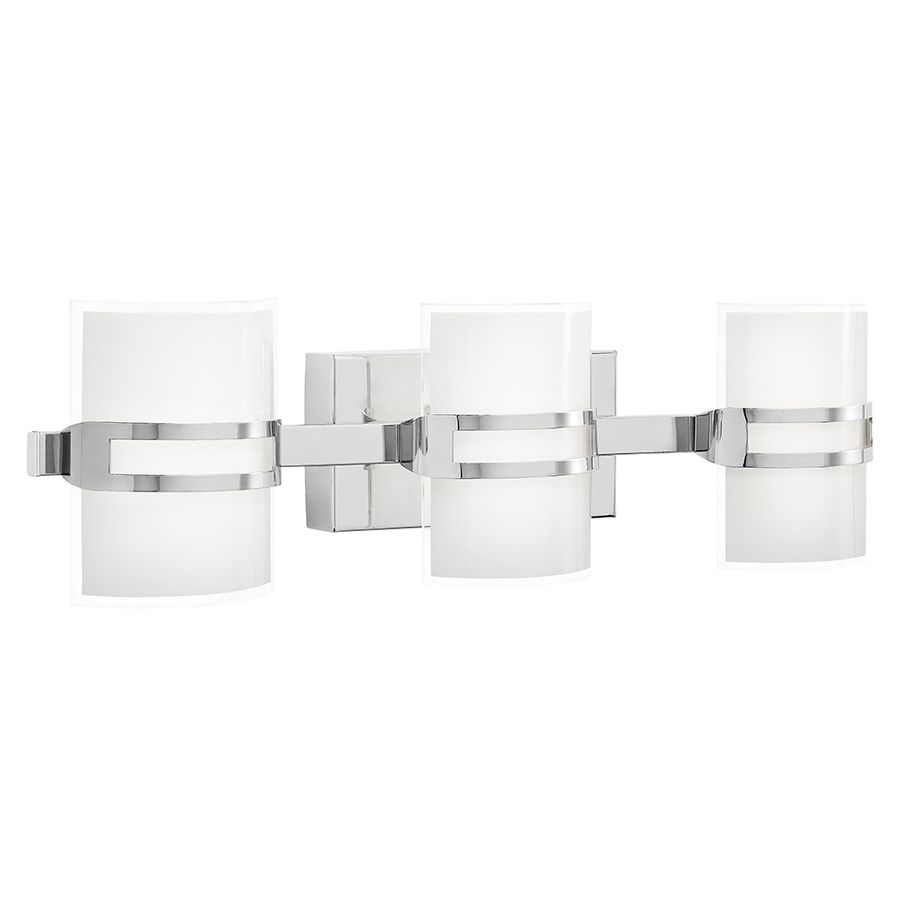 Vanity Lights Lowes Shop Kichler Lighting 3Light Deauville Chrome Led Bathroom Vanity