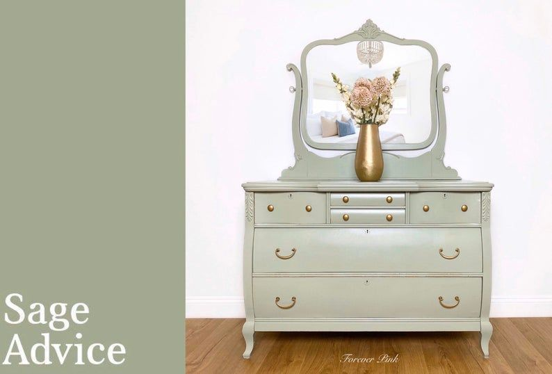 Country Chic Paint Sage Advice Rustic Charm Fireworks Etsy In 2020 Country Chic Paint Country Chic Green Furniture