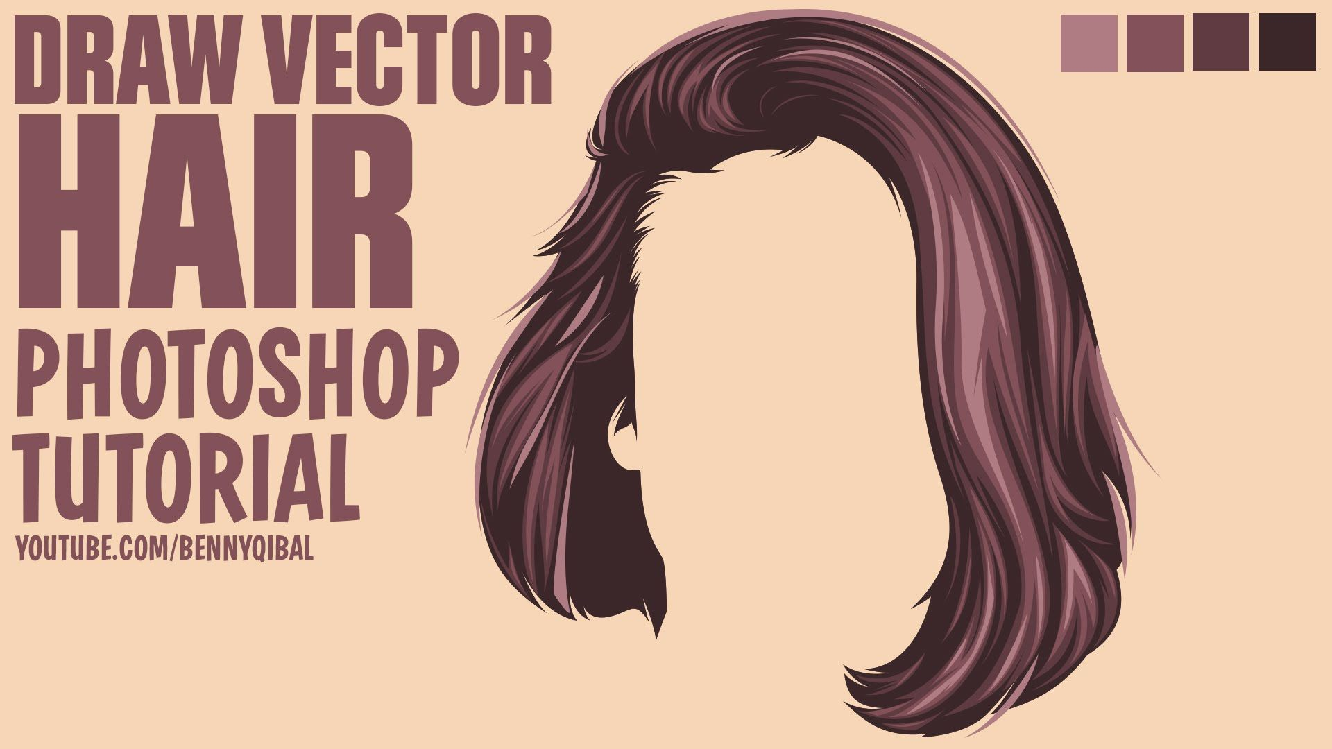 Draw Vector Hair Photoshop Tutorial In this tutorials i will