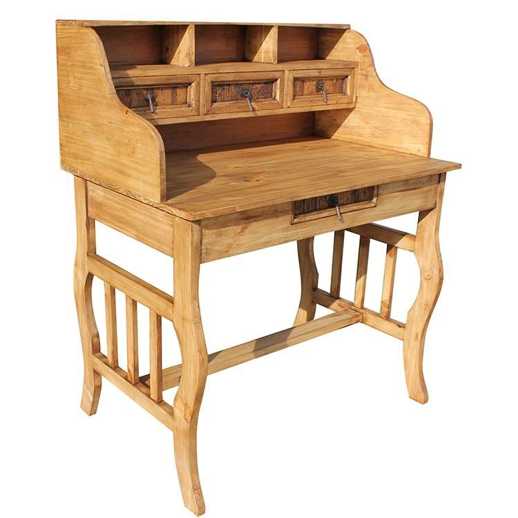 Rustic Furniture Lira Mexican Pine Desk With Hutch