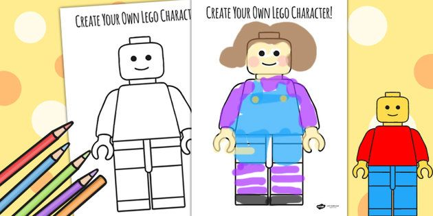 Create Your Own Lego Character Template | Lego characters ...