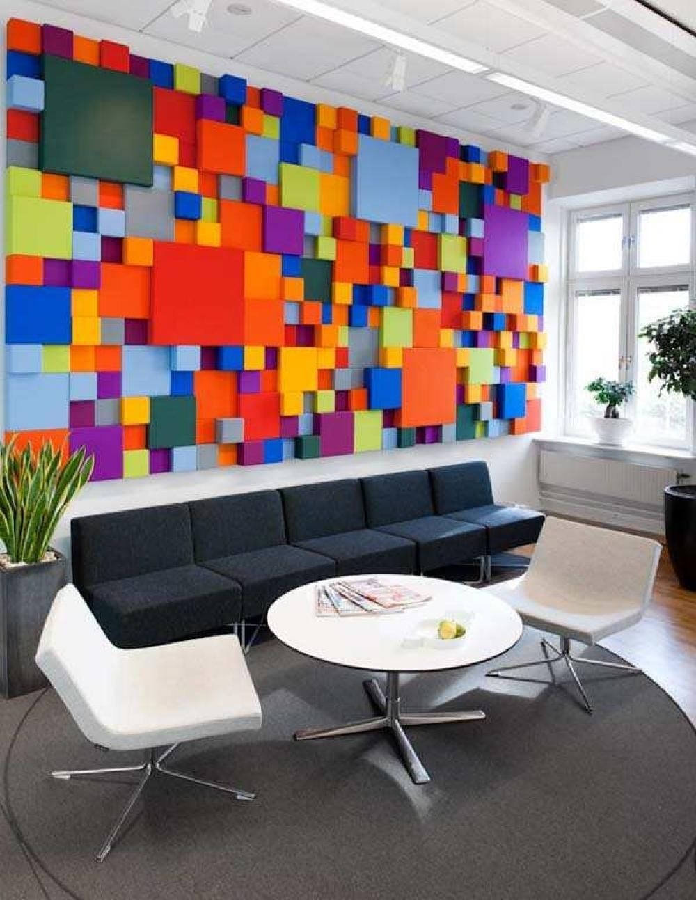 Cheerful Office Interior Desain In Sweden With Colorful Wall Decoration 24  Cool Modern And Spacious Office Interior Designs Concept Interior Design
