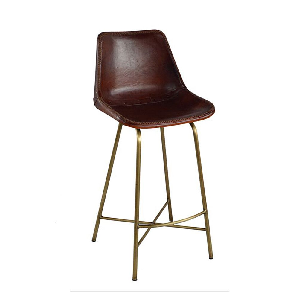 Peachy Huck Leather Stool Furniture Leather Stool Leather Caraccident5 Cool Chair Designs And Ideas Caraccident5Info