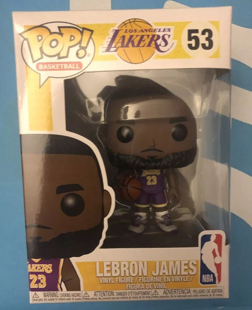 ee24e57b5d3 Lebron James Funko POP!  53 NBA Lakers Purple Jersey Fanatics Exclusive NEW