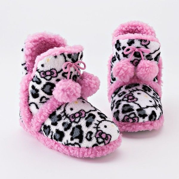 6ed54f5a0 Hello Kitty Leopard Bootie Slippers<3   So Comfy   Slippers for ...