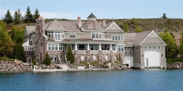 Bay harbor mi boathouse exterior inspiration for House builders in michigan
