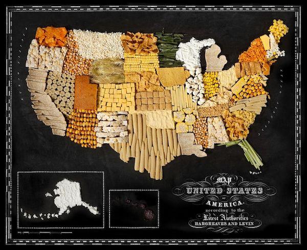 Les cartes géographiques gourmandes de Caitlin Levin Photo
