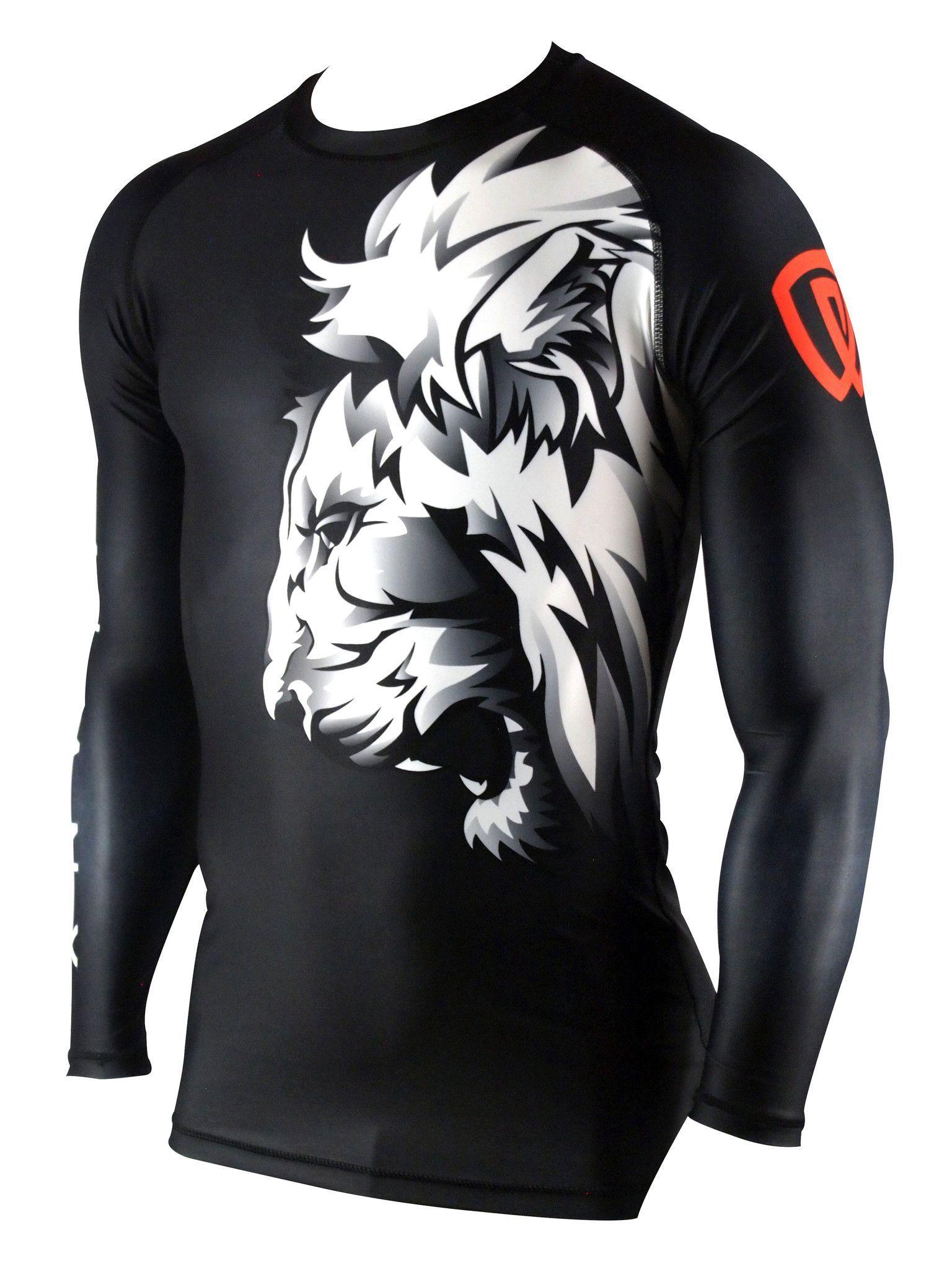 de045ffff Lionheart Ranked Rash Guard | Black Belt Team Wear, Sport Wear, Bjj Gear,