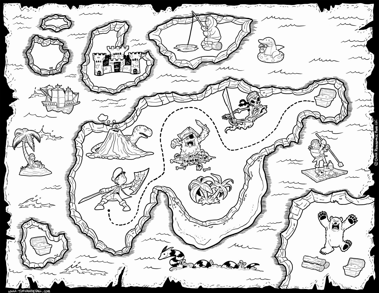 Treasure Map Coloring Page Best Of Free Pirate Treasure Maps For A