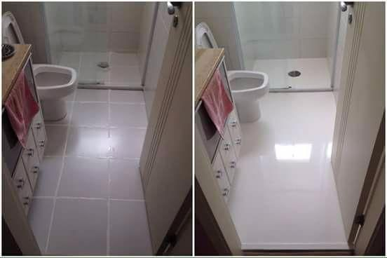 Porcelanato liquido fotos antes e depois