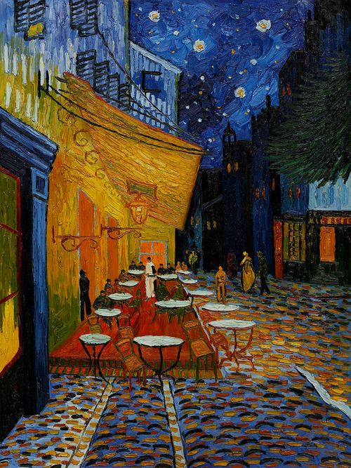 Van Gogh Terrasse De Cafe La Nuit Color My World Van Gogh