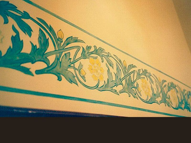 Art Deco frieze, acrylic paint, in a hall, private client, Tourcoing ...