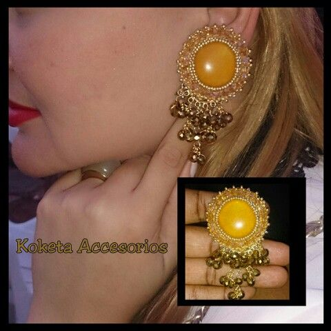 Aretes chapas embroidery