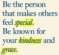 make others feel special