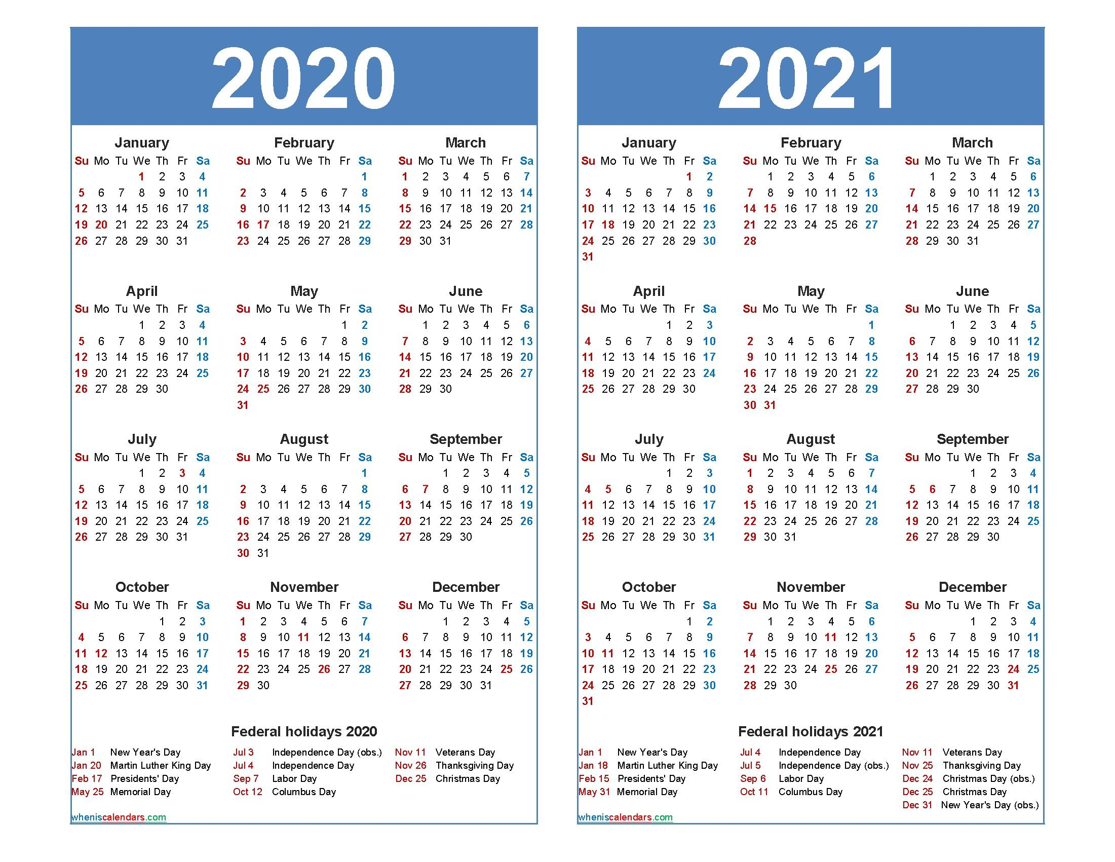 Pin on 2020 Calendars (Printable Monthly Templates)