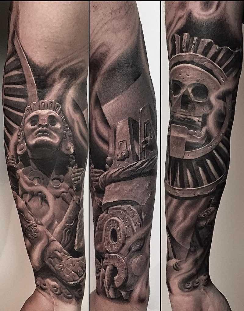 c10ba7415 50 Of The Best Aztec Tattoos | Aztec Tattoos | Mayan tattoos, Azteca ...