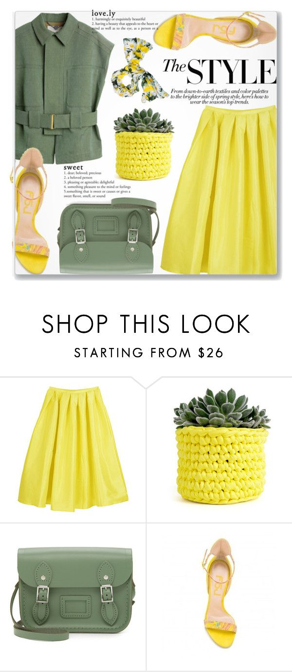 """""""Picnic Day With FSJ Shoes"""" by jiabao-krohn ❤ liked on Polyvore featuring STELLA McCARTNEY, Wool and the Gang, The Cambridge Satchel Company, Kate Spade and fsjshoes"""