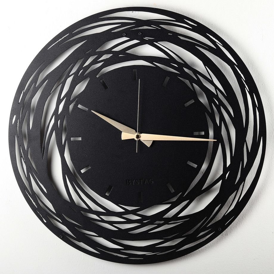 Bystag Stainless Steel Clocks Decor Touch Of Modern Industrial Design Company Clock