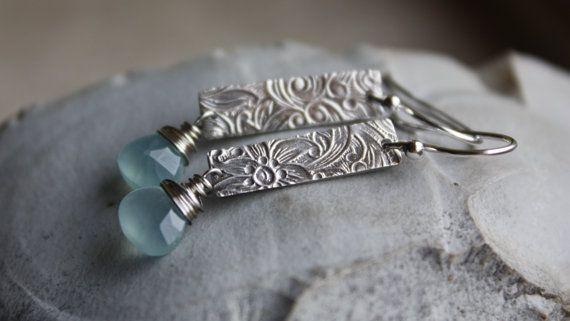 Silver Flower Earrings Rustic Silver by PrairieSmokeJewelry, $35.00