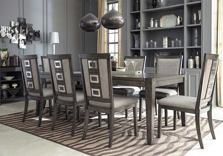 Orit arnon the phrase formal dining room often elicits images of stu. Chadoni Grey 5 PC Dining Room - Badcock Home Furniture ...