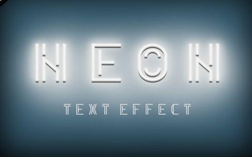 Neon PSD Text Effect