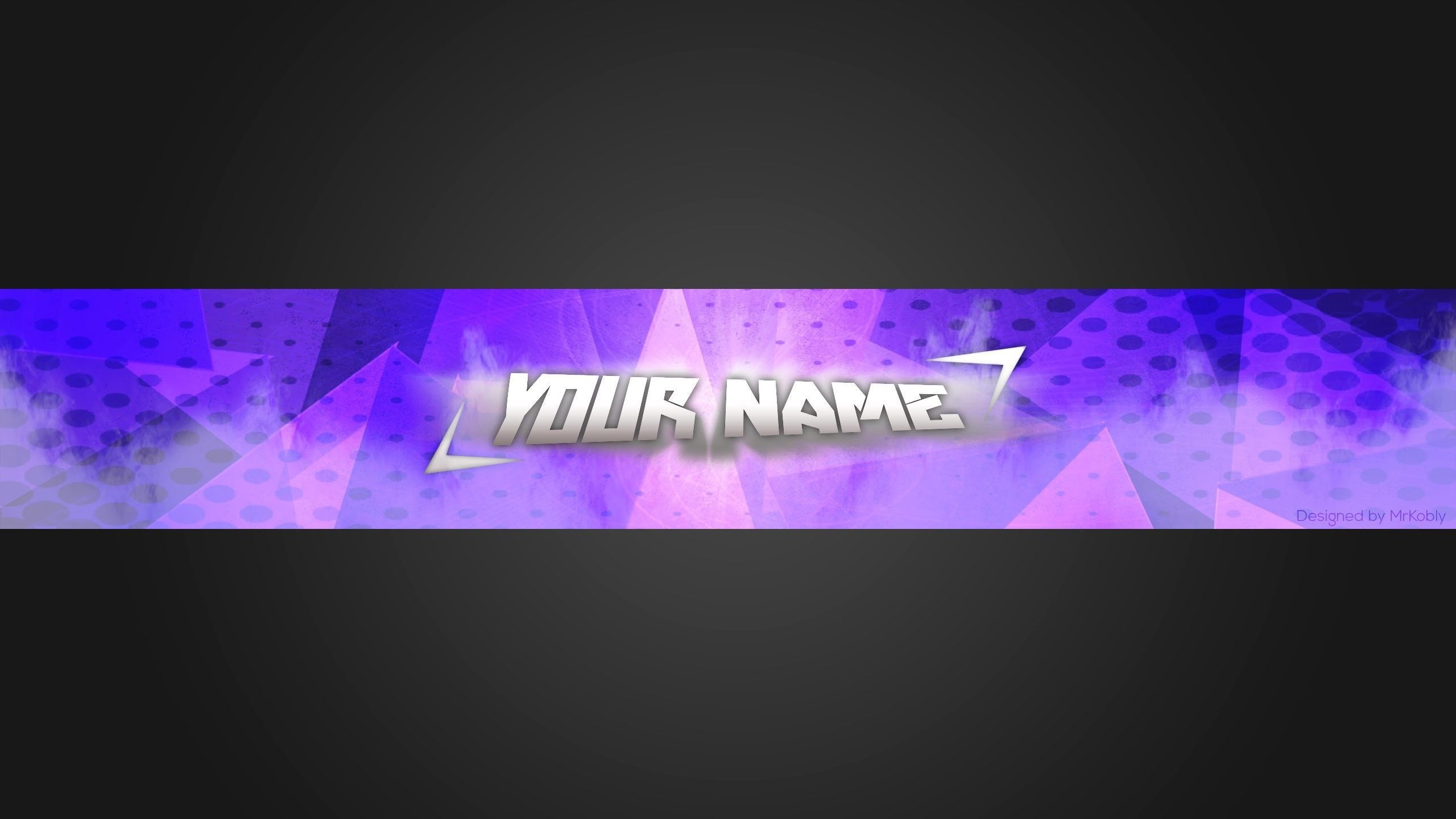 2560X1440 Clean, Simple, Blue Youtube Banner Template In