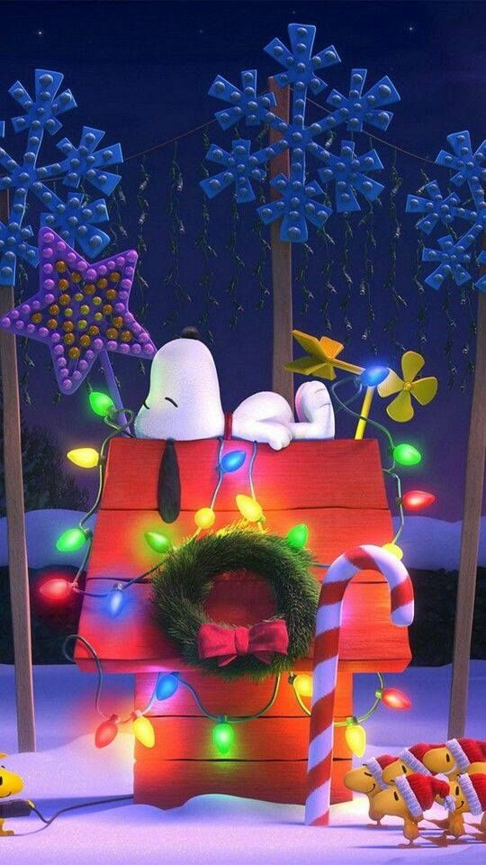 Snoopy Xmas Dog House Wallpaper Wallpaper Iphone Christmas