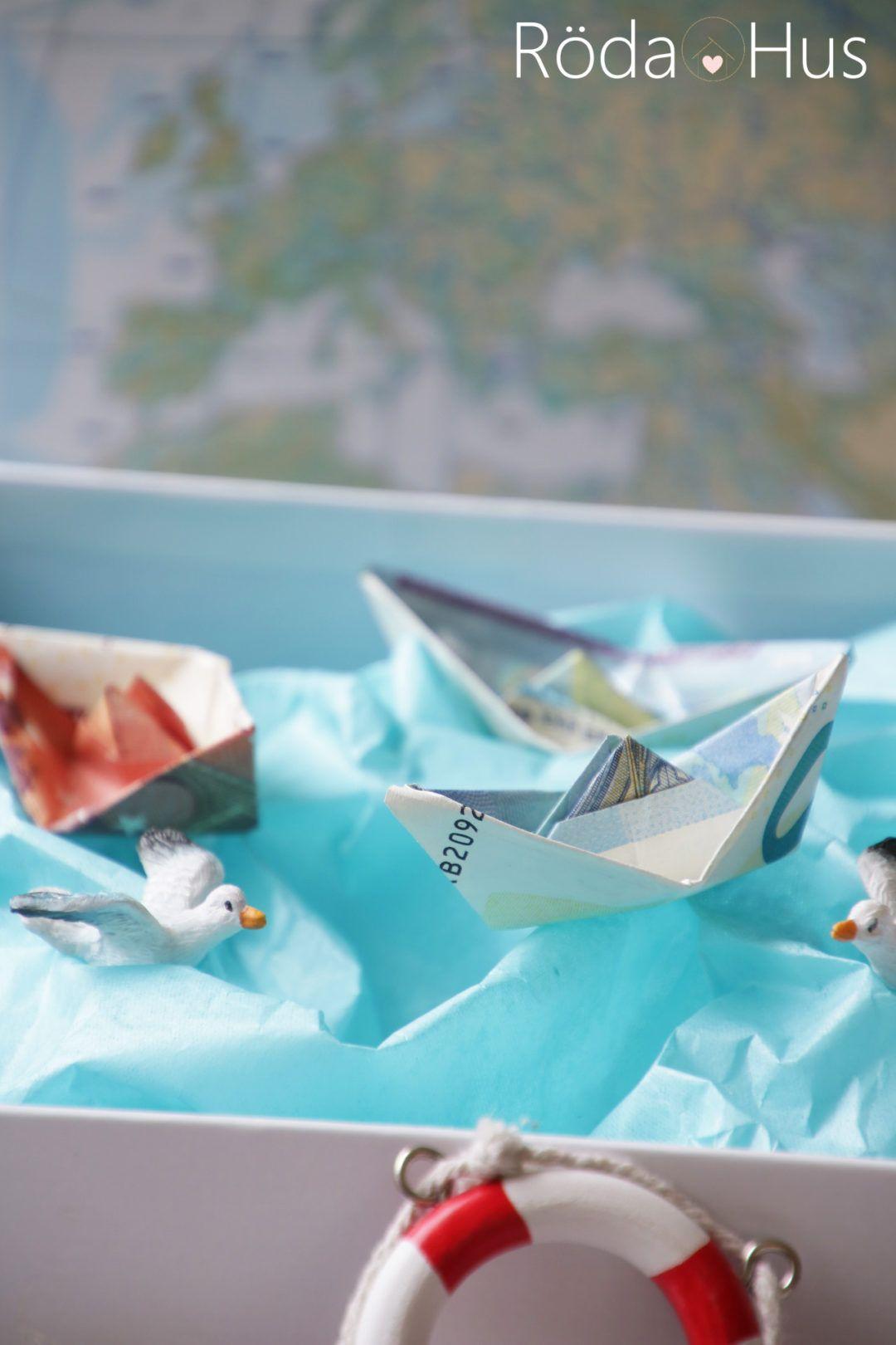 Diy Geldschein Schiff Falten Maritime Geschenkidee Werbung Roda