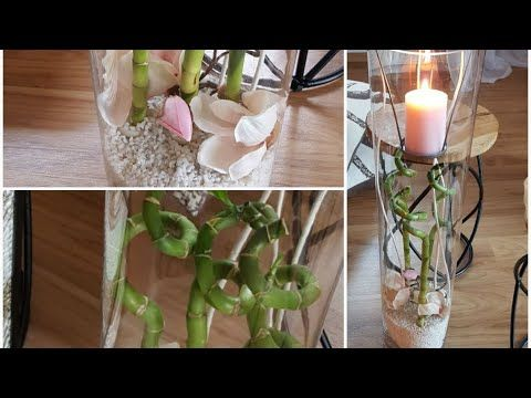 Deko Im Leonardo Glas Bambus Seidenmagnolie Rose Weiss Decor