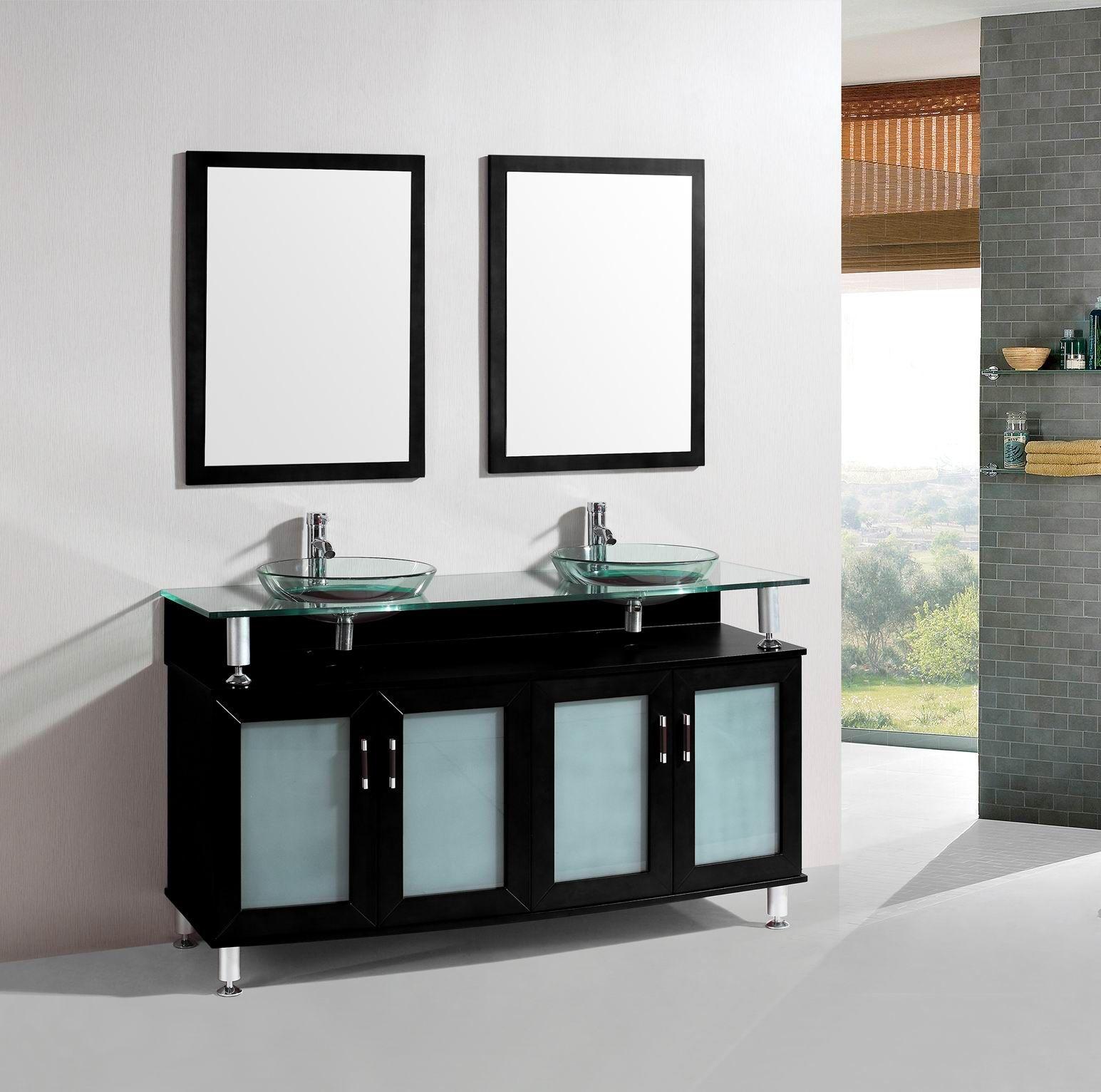 inch belvedere modern espresso brown double bathroom vanity w