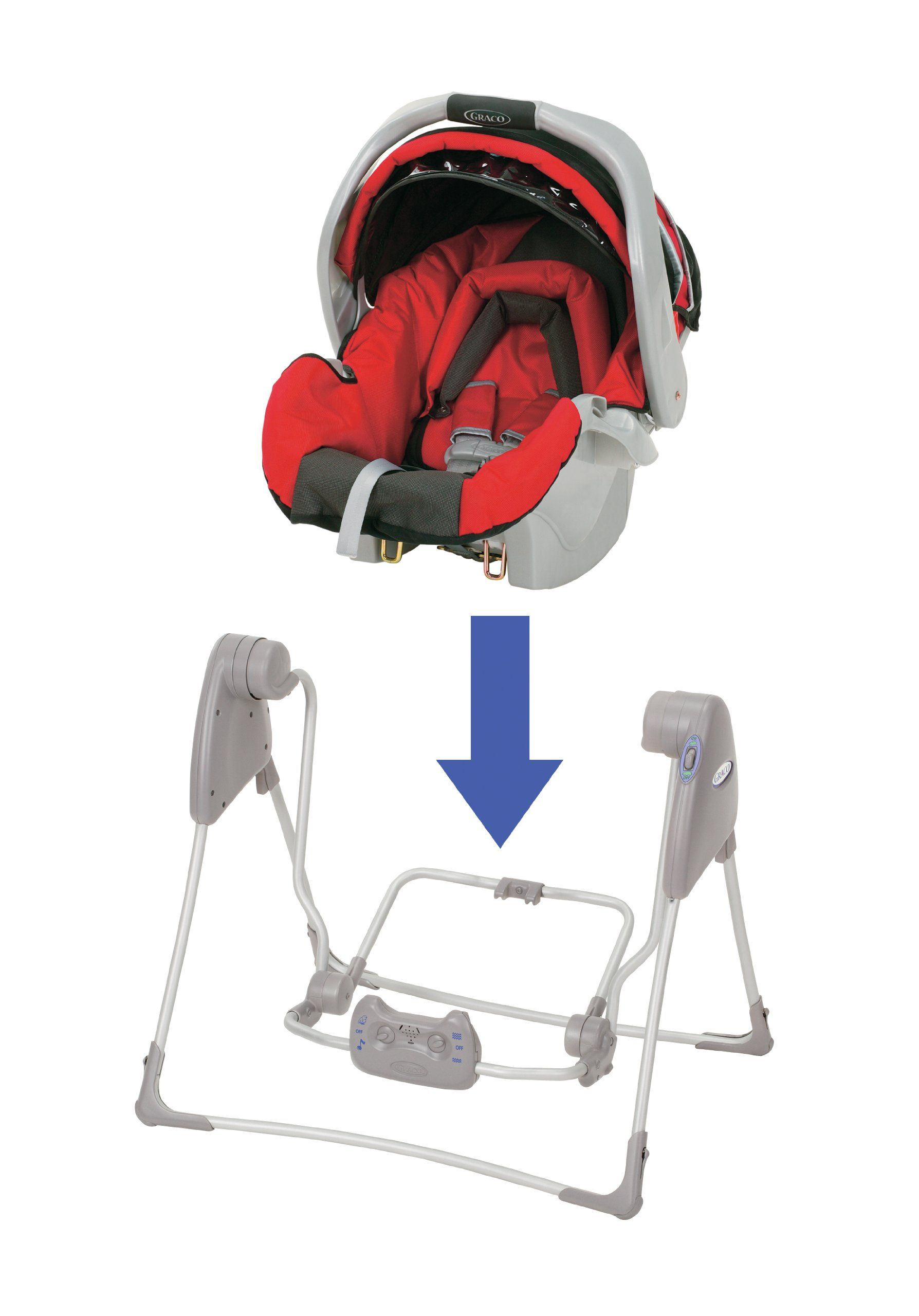 Amazon Com Graco Baby Snugglider Infant Car Seat Swing