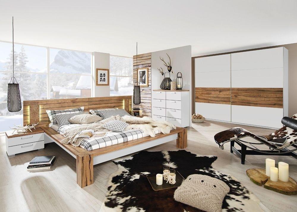 Schlafzimmer komplett Davos Wildeiche Weiß 8333 Buy now at