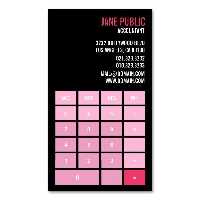 Pink version accountant calculator double sided standard business pink version accountant calculator double sided standard business cards pack of 100 colourmoves