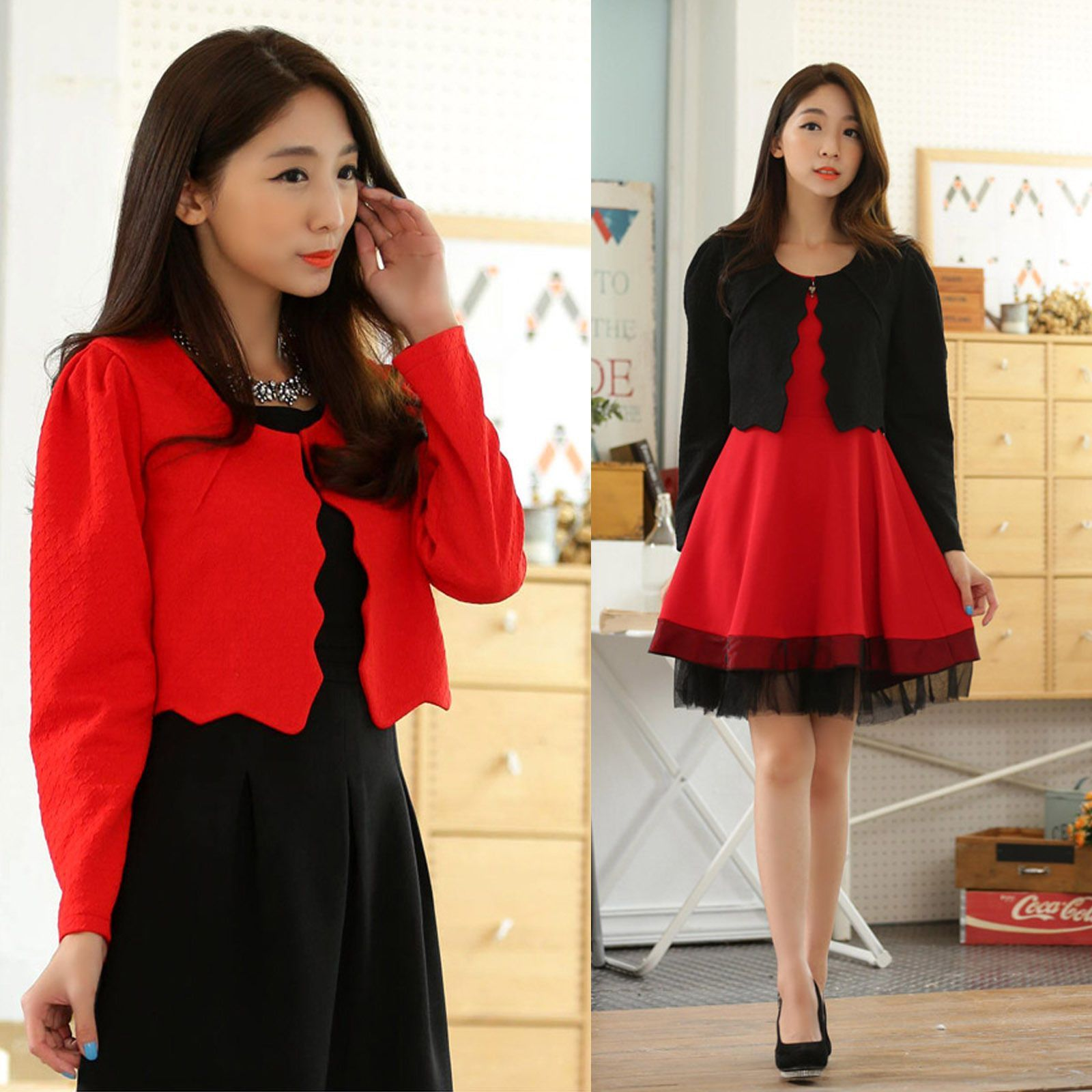 Korean flannel outfits  Nice Trendy Small Shawl Korean Beaded Lace Long Sleeve Lace Shirt