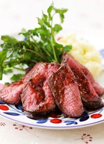 「ローストビーフ」はおうちで簡単に作れるんです!時短&お手軽レシピから本格レシピまで♪