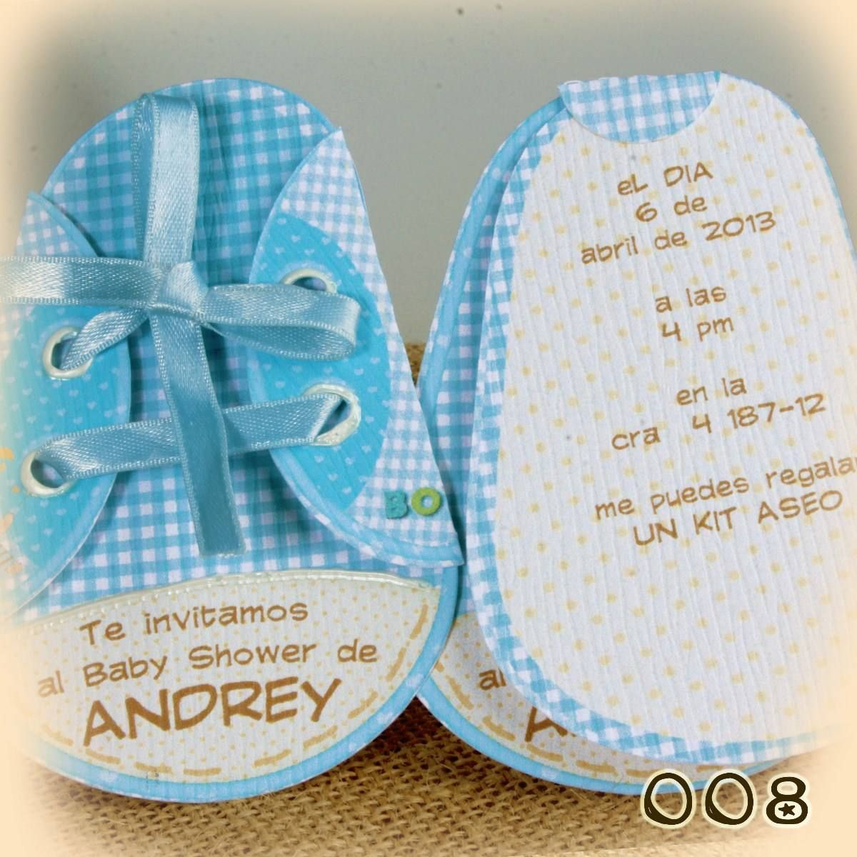 Lovely Invitaciones Y Tarjetas Baby Shower Zapaticos_MCO F 4405750465_052013.