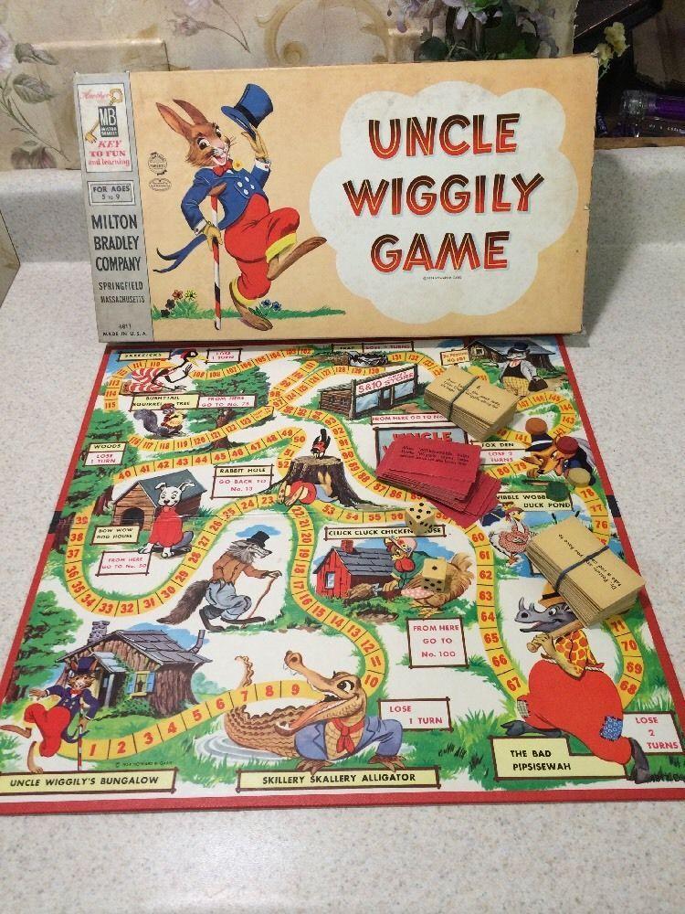 Vintage 1954 Uncle Wiggily Board Game *Rare* Complete W